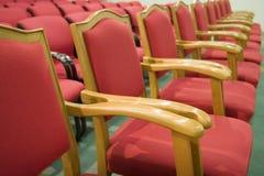 Rote Sitze Stockfotos