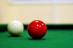 Rote Snookerkugel Lizenzfreies Stockfoto
