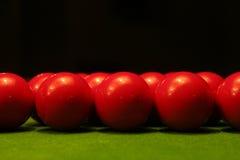 Rote Snookerkugeln Stockfotografie