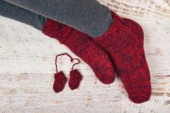 Rote Socken Stockfotos