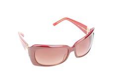 Rote Sonnenbrillen getrennt Lizenzfreie Stockbilder