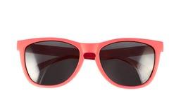 Rote Sonnenbrillen lokalisiert Lizenzfreie Stockfotos
