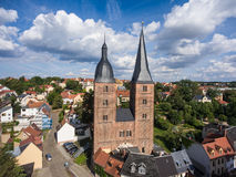 Rote Spitzen Altenburg medieval town red towers old Stock Image