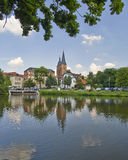 Rote Spitzen góruje, Altenburg, Niemcy Obrazy Royalty Free
