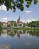Rote Spitzen torn, Altenburg, Tyskland Royaltyfria Bilder
