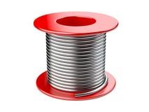 Rote Spule mit Draht stock abbildung