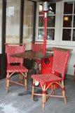 Rote Stühle stockbild