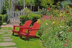 Rote Stühle Lizenzfreies Stockfoto