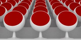 Rote Stühle Stockbilder