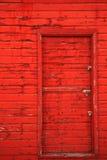 Rote Stall-Tür Stockbild