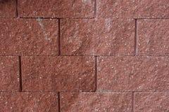 Rote Steinwand Lizenzfreie Stockfotos