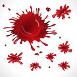 Rote Stellen und Spray stock abbildung