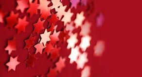 Rote Sterne Stockfotografie