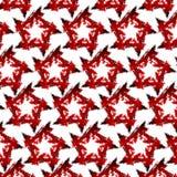 Rote Sterne Stockfoto