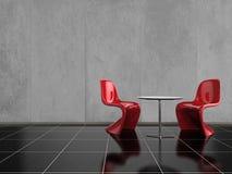 Rote Stühle Stockfotos
