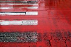 Rote Streifen Stockbild