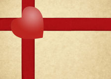 Rote Streifen und Herz der Geschenkboxschablone Lizenzfreie Stockbilder