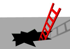 Rote Strichleiter Lizenzfreies Stockfoto