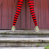 Rote Strumpfhosen Stockfotos