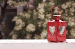 Rote Sturmlampe der Liebe Stockfoto