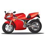 Rote Supersport-Karikatur Stockfoto