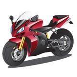 Rote Supersport-Karikatur Stockbilder