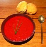 Rote Suppe Stockbild