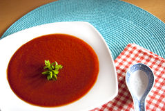 Rote Suppe Stockbild