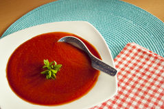 Rote Suppe Stockfotografie