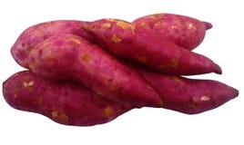 Rote Swweet-Kartoffel auf weißem Hintergrund lizenzfreies stockfoto