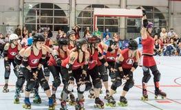Rote Täuschung Derby Gals lizenzfreies stockfoto