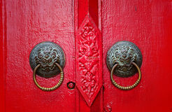 Rote Tür lizenzfreies stockbild