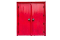 Rote Tür lokalisiert lizenzfreies stockbild