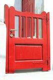 Rote Türen - Mykonos Stockbild
