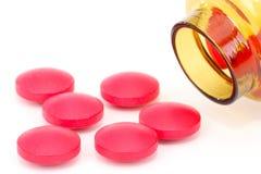 Rote Tabletten lizenzfreie stockfotos