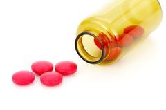 Rote Tabletten Stockbilder