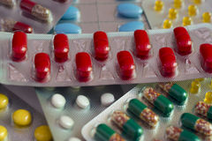Rote Tabletten Lizenzfreies Stockfoto