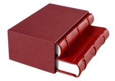 Rote Tagebücher Stockbild