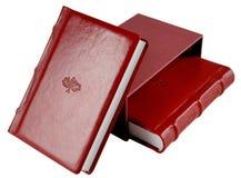 Rote Tagebücher Lizenzfreies Stockfoto