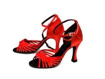 Rote Tanzenschuhe stockbild