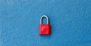 Rote Tastaturblock-Verriegelung Stockbild