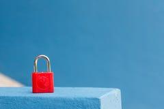 Rote Tastaturblock-Verriegelung Lizenzfreies Stockfoto
