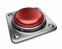 Rote Taste der leeren Warnung. Ikone 3D   stock abbildung