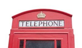 Rote Telefonkabine in London-Stadt lizenzfreie stockfotografie