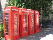 Rote Telefonstände Lizenzfreies Stockbild