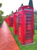 Rote Telefonzelle lizenzfreie stockfotos
