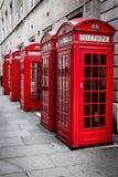 Rote Telefonzelle Stockbild