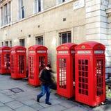 Rote Telefonzellen Lizenzfreie Stockfotografie