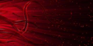 Rote Tentakeln Stockbild