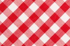 Rote Tischdecke lizenzfreie stockfotografie
